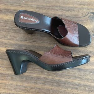 Naturalizer Zipster Brown Leather Heeled Shoes